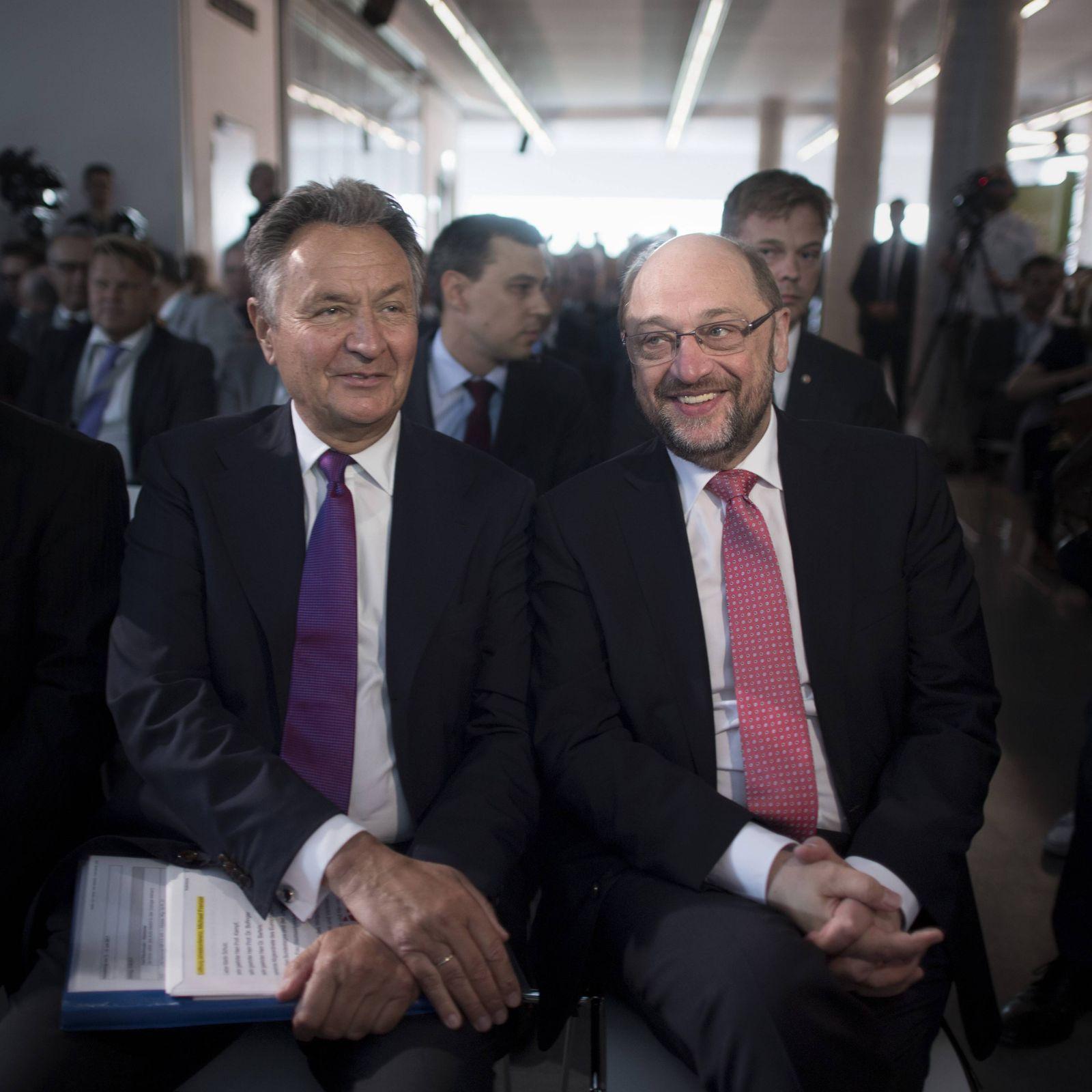 EINMALIGE VERWENDUNG Michael Frenzel / Martin Schulz,