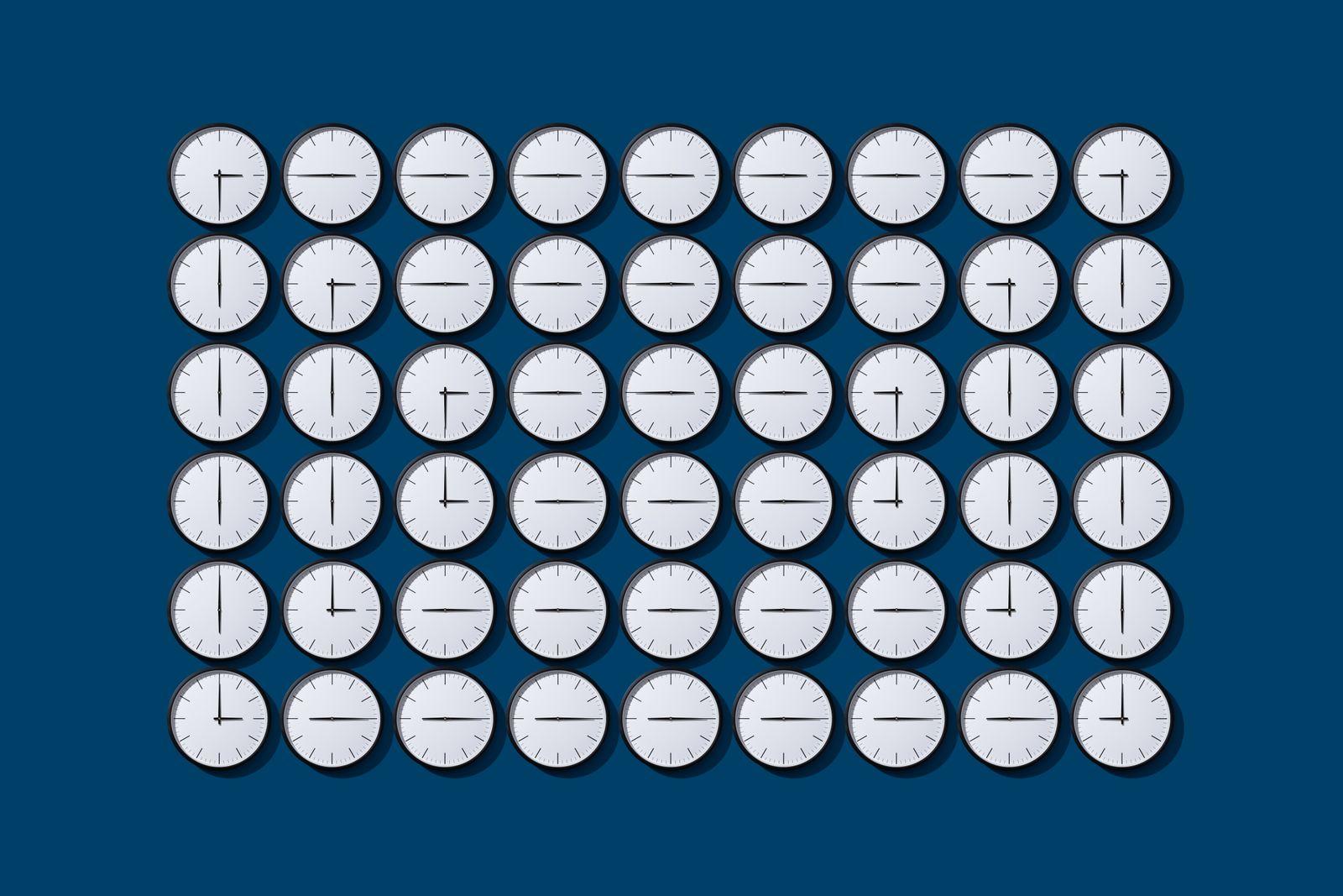 Arranged Clock Hands Loops