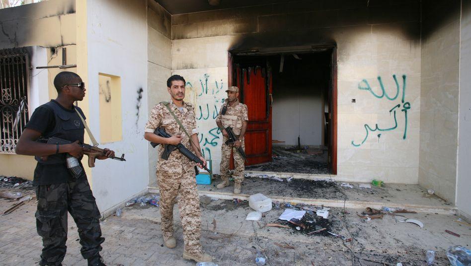 US-Konsulat in Bengasi nach dem Anschlag: Bei einem Terroranschlag im September 2012 wurden Botschafter Christopher Stevens und drei weitere US-Diplomaten getötet