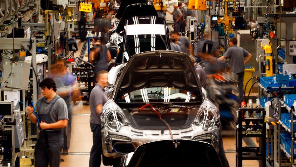 Porsche-Werk Zuffenhausen: Die Wirtschaft gibt 2014 wieder Gas