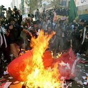 Lage bleibt instabil:Iranische Demonstration