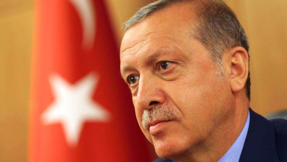 Türkeis Präsident Erdogan am Samstag.