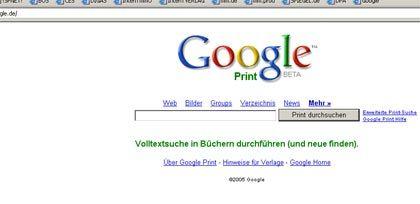 Startet trotz juristischer Streitereien: Google Print