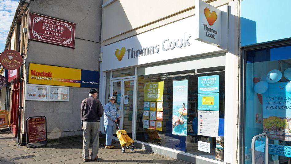 Reisebüro von Thomas Cook: Reisebüros waren die Lösung für ein Problem, das heute nicht mehr existiert