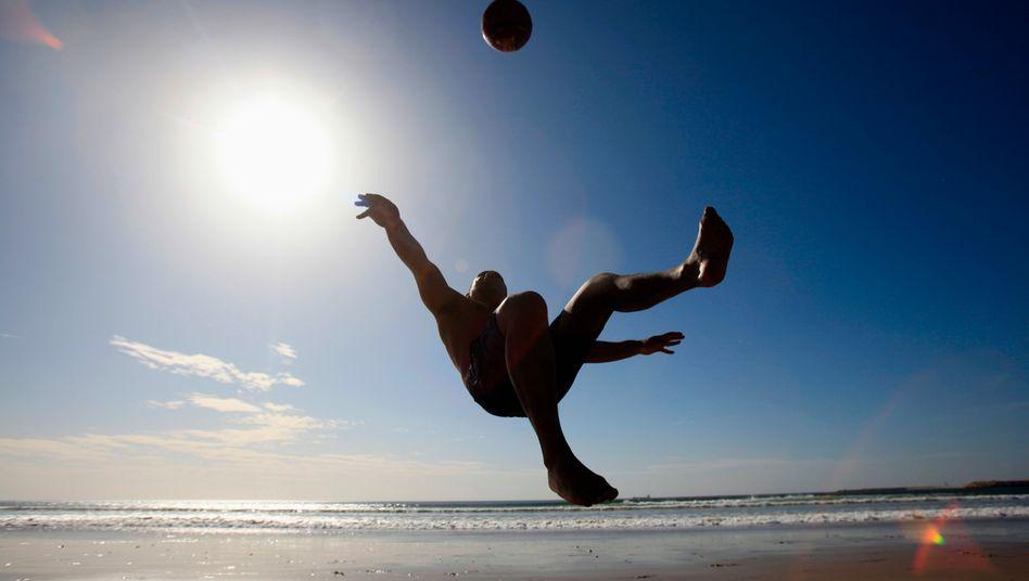 Freizeit-Fußballer in Marokko