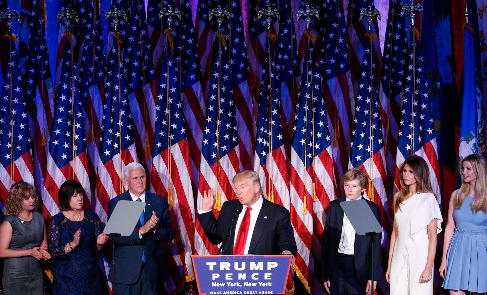 Trump / Sieg / Rede
