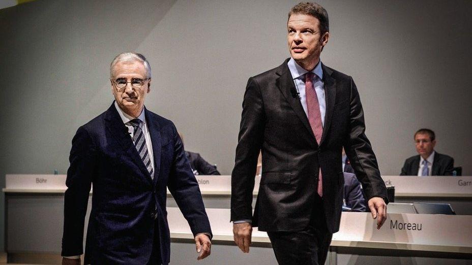 Der nächste Versuch: Chefkontrolleur Paul Achleitner (l.) verspricht die Rundumerneuerung der Bank. Im Frühjahr hat er mit Christian Sewing als CEO seinen dritten Anlauf gestartet.
