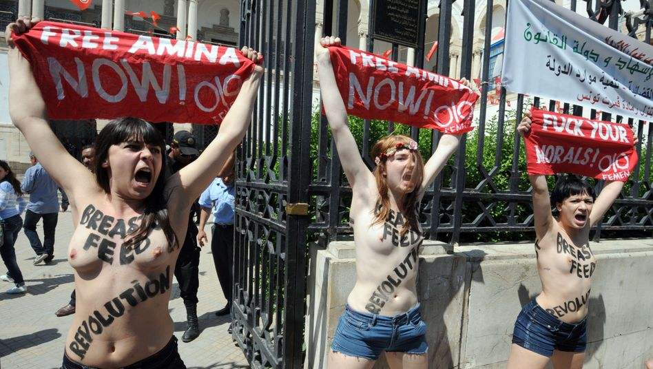 29. Mai 2013: Femen-Protest in Tunesien
