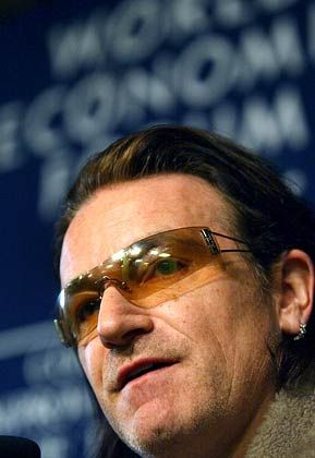 With or without Bono: Der Sänger der Rockband U2 diskutiert in Davos über die Zukunft Afrikas