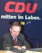 Will sich im Bundestag entschuldigen: CDU-Chef Wolfgang Schäuble