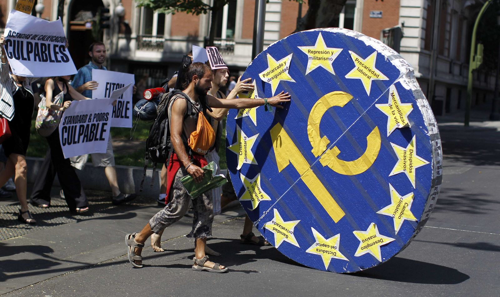 Spanien demo Euro