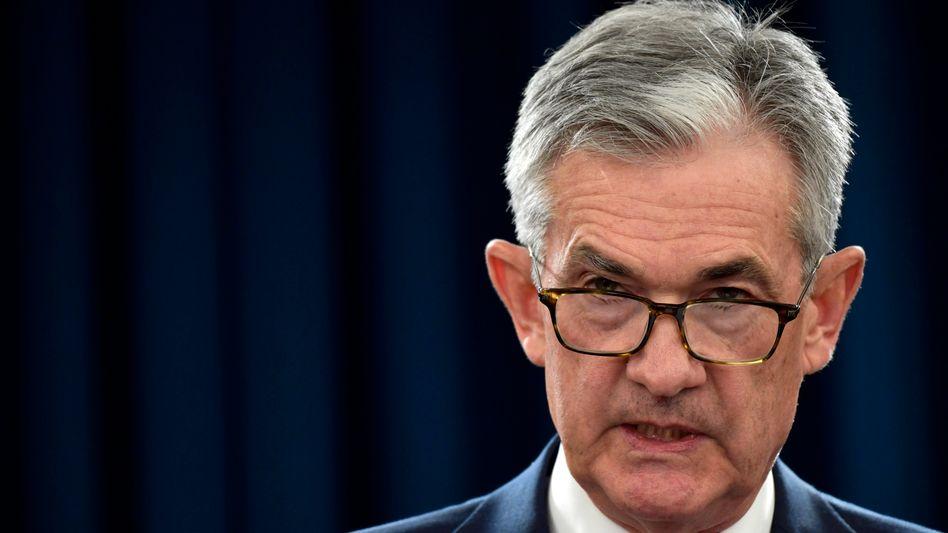 Noch keine Reaktion auf Inflation: Fed-Chef Jerome Powell hält sein Pulver trocken