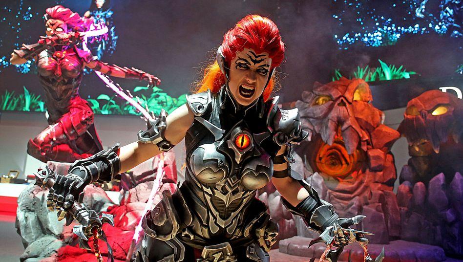 """Figur aus dem Spiel """"Darksiders"""": Auf der Computerspielmesse Gamescom in Köln werden rund 500.000 Besucher erwartet"""