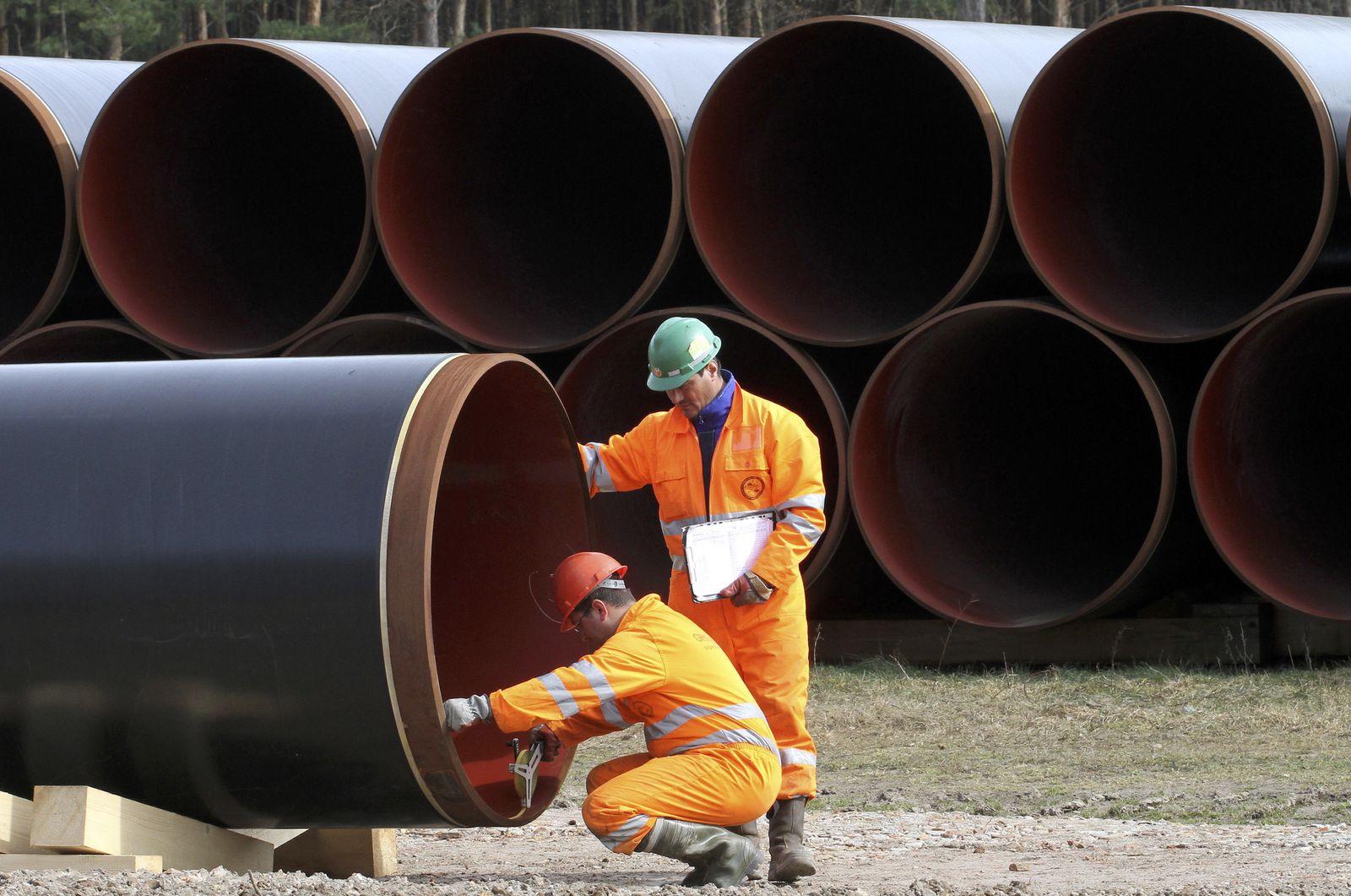 NICHT VERWENDEN Bauarbeiten der OPAL-Erdgasleitung in Brandenburg