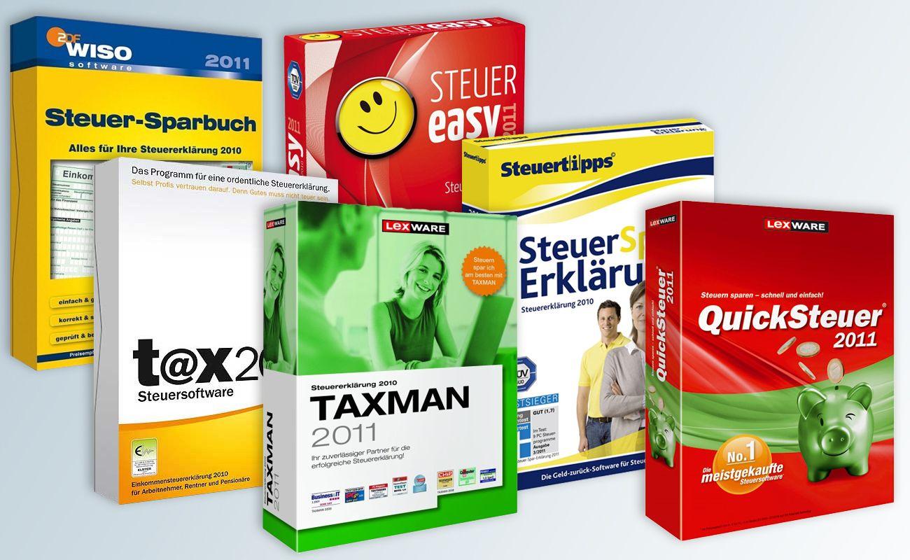 Illustration PC-Steuerprogramme 2011 / Steuererklärung 2010