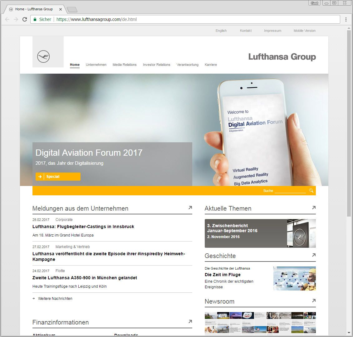 SCREENSHOT lufthansagroup.com