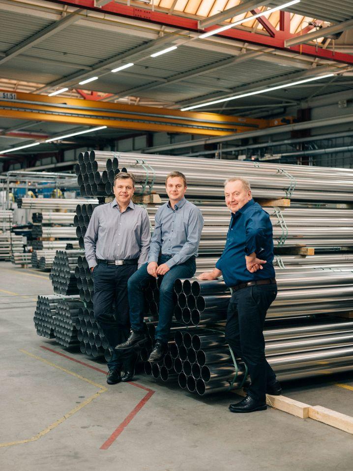 Schwarzwald-Trio: Vater Hans Fischer (r.) mit seinen Söhnen Hans-Peter (l.) und Roland