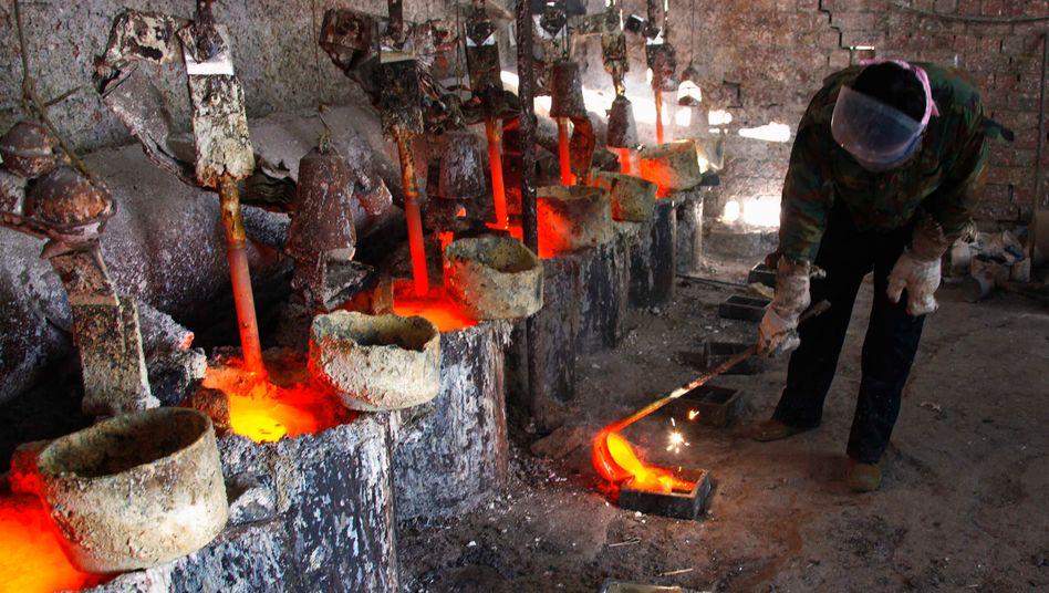 Beinahemonopol: Schmelze des Seltenerdenmetalls Lanthan in der Inneren Mongolei