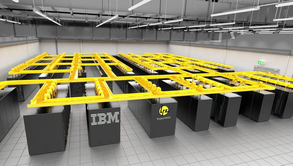 Mit der Rechneranlage SuperMUC rückt Deutschland in die Spitzenliga der weltweit schnellsten Supercomputer auf.