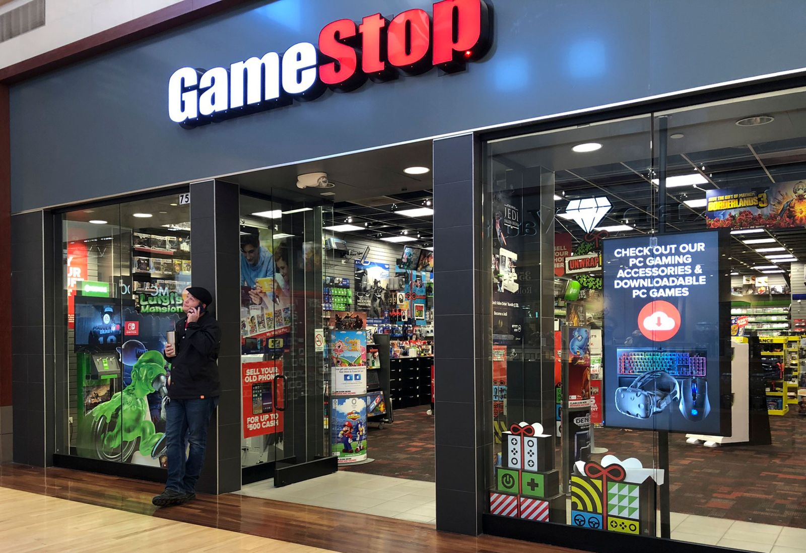 GameStop shares skyrocket from USD 3.25 to USD 347.51 in 10 months, Gurnee, USA - 27 Jan 2021