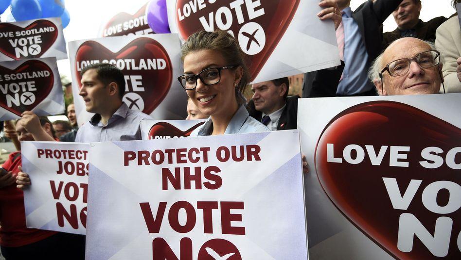 Gegner einer Loslösung in Glasgow: Kopf-an-Kopf-Rennen erwartet
