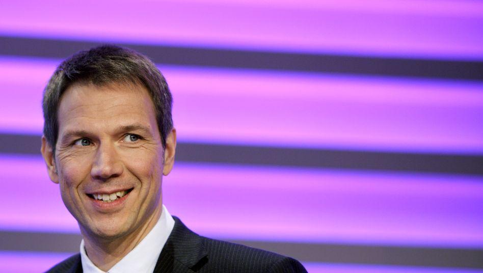 Eine Sorge weniger: Telekom-Chef René Obermann hat die US-Mobilfunktochter für 39 Milliarden Dollar verkauft