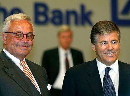 """Aufsichtsratschef Breuer und Vorstandschef Ackermann: Investmentsparte """"zu groß"""""""