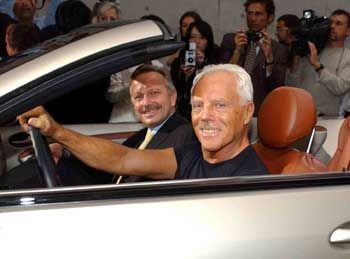 Ausflug ins Autodesign: Von Armani gestylter Mercedes CLK