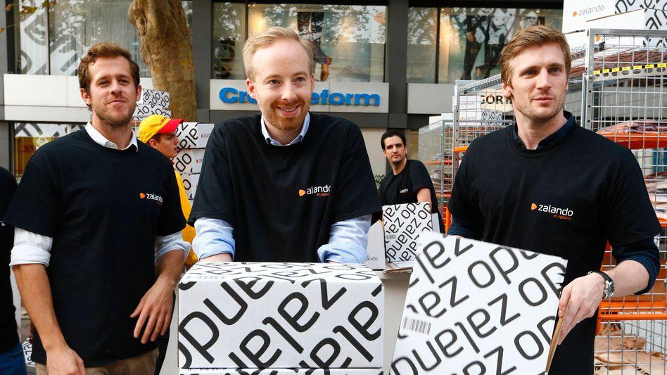 Genug Pakete verschickt: Zalando-Co-Chef Rubin Ritter (Mitte)