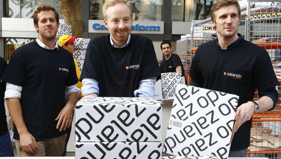 Zalando-Chefs: Robert Gentz, Rubin Ritter und David Schneider (l. n. r.).