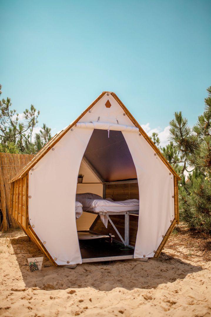 Lässig und einfach übernachten: ein Sheddie Deluxe im Surfana-Surfcamp Bloemendaal