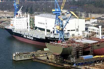 Die Flender Werft in Lübeck