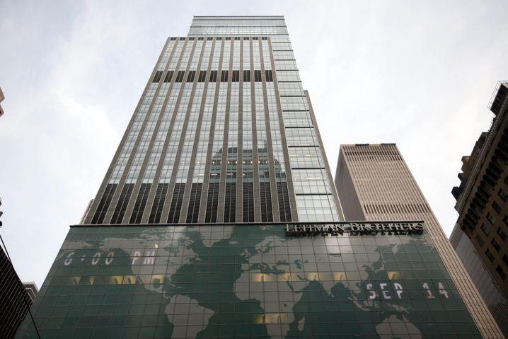 Das ehemalige Headquarter der Lehman Brothers: Im Jahr 2008 kollabierte die Bank und löste damit eine weltweite Finanzkrise aus