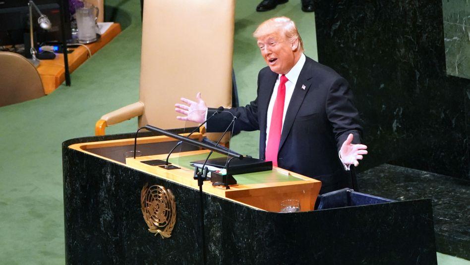 Donald Trump: Seine Rede vor der UN-Vollversammlung wurde immer wieder von Gelächter unterbrochen
