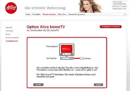 Neue Fernsehgeneration: IPTV-Angebot von Alice