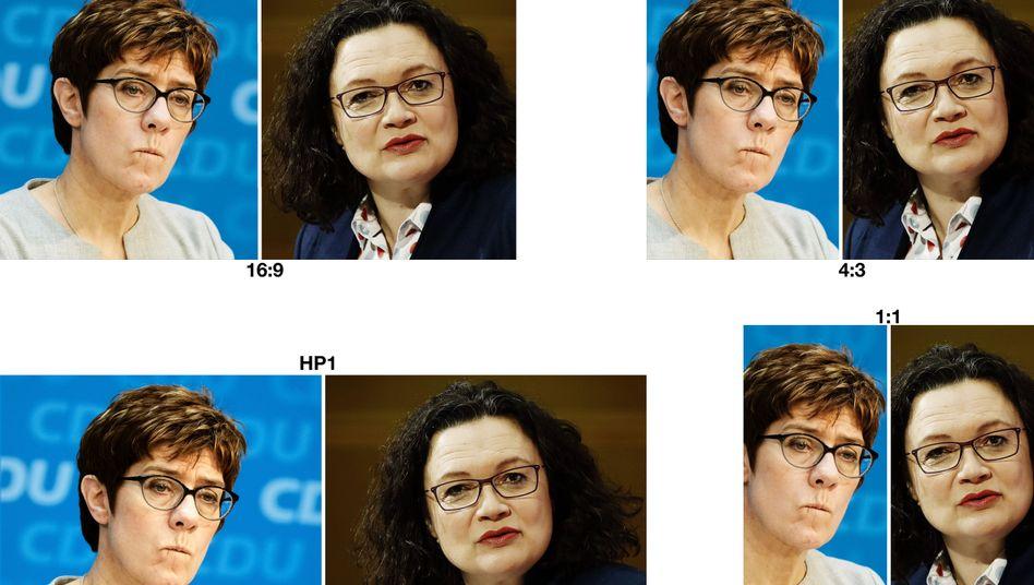 CDU-Chefin Kramp-Karrenbauer, SPD-Vorsitzende Nahles