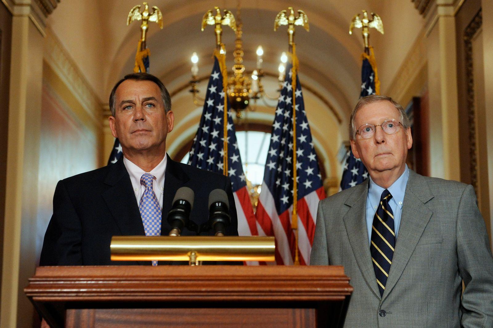 USA/ Schuldendebatte/ John Boehner/ Mitch McConnell