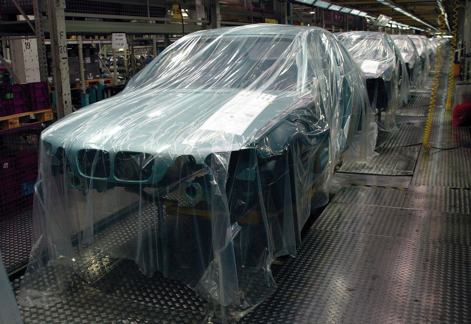 Fahrzeuge der BMW 3er-Reihe im Münchner Werk