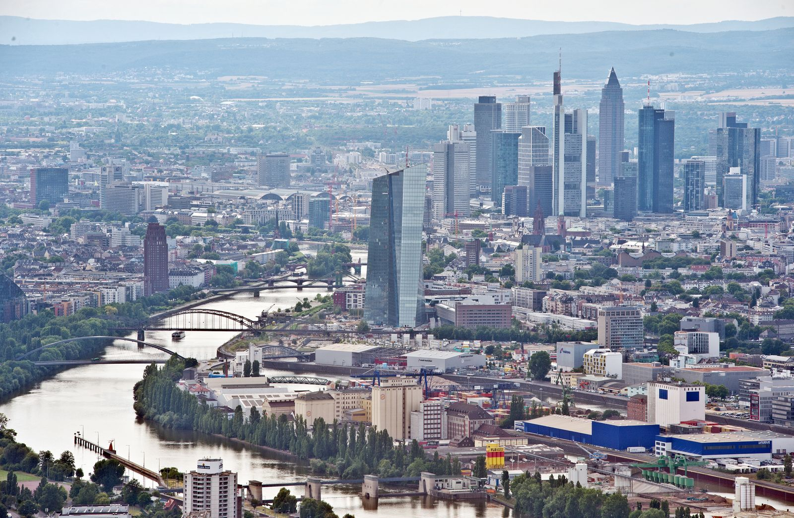 Frankfurt / Skyline / EZB-Neubau in Frankfurt am Main
