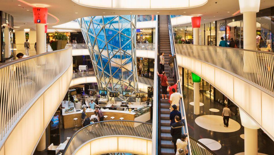 Einkaufszentrum in Darmstadt: Deutschlands Einzelhandel zuletzt mit Umsatzplus