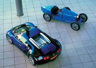 Ob alt, ob neu: Bugattis waren schon immer ein Blickfang