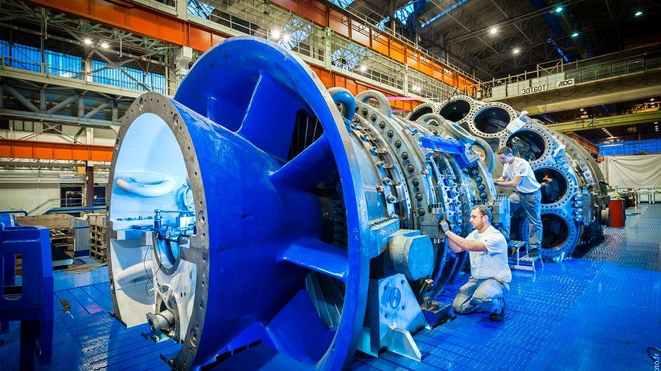 Teures Instandsetzen: General Electric muss die Schaufeln der bis zu 400 Tonnen schweren Gasturbine der H-Klasse erneuern