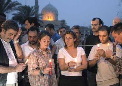 Trauer: Journalisten in Bagdad trauern um getötete Kollegen