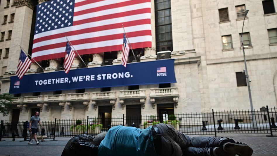 Wall Street in New York: Die Corona-Krise hat die US-Großbanken arg gebeutelt.