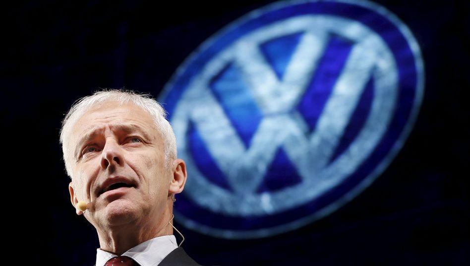 """Volkswagen-Chef Matthias Müller: """"Die USA sind und bleiben ein Kernmarkt für VW"""""""