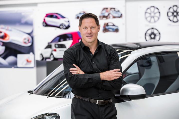 Gorden Wagener, Leiter Design bei Daimler. ist schon häufiger bei der Mille Miglia mitgefahren