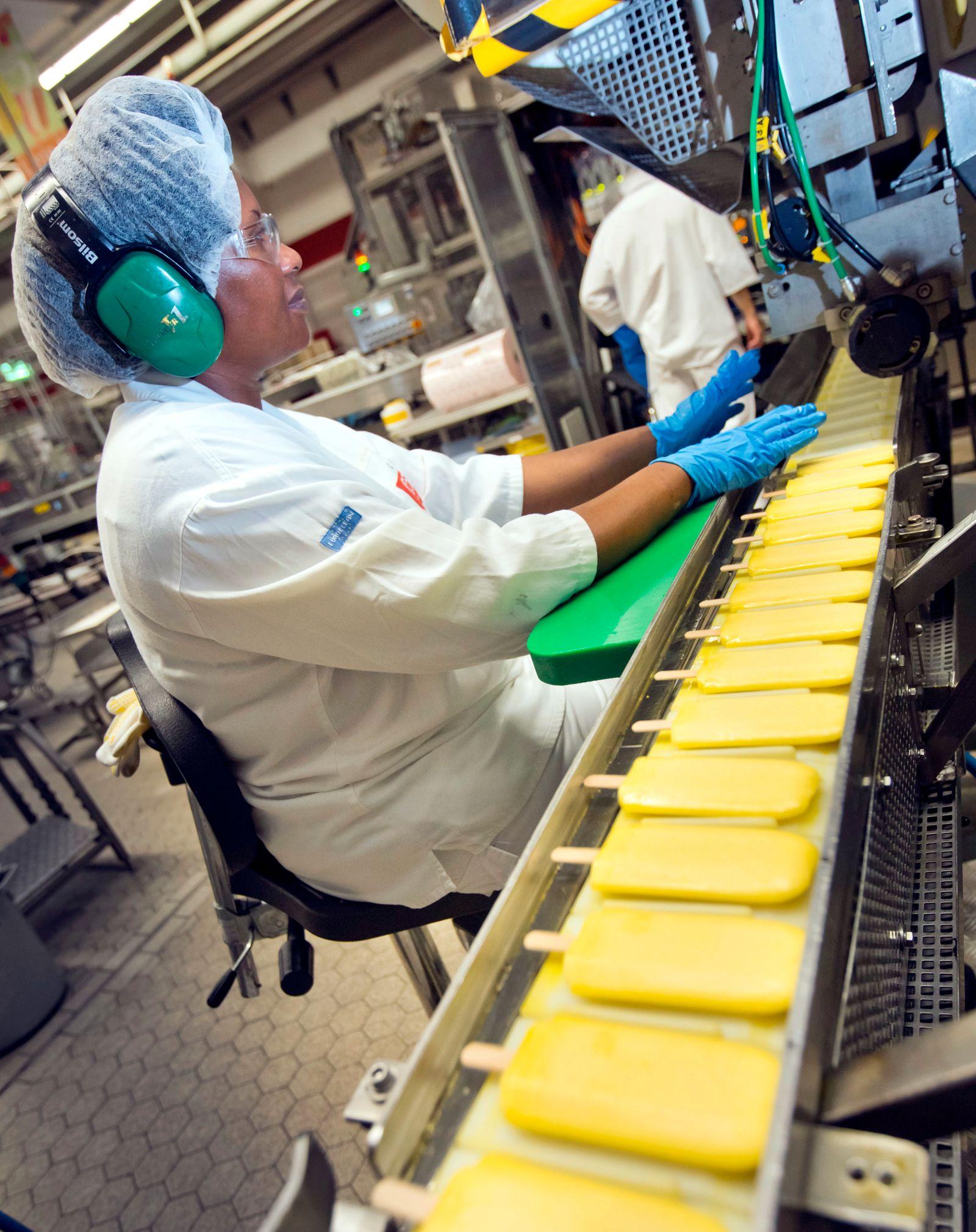 Eiscreme-Produktion läuft auf Hochtouren