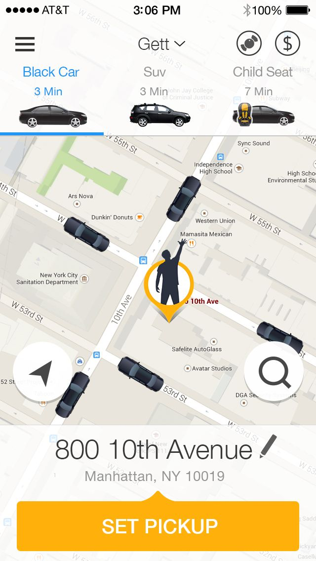 SCREENSHOT Gett - App