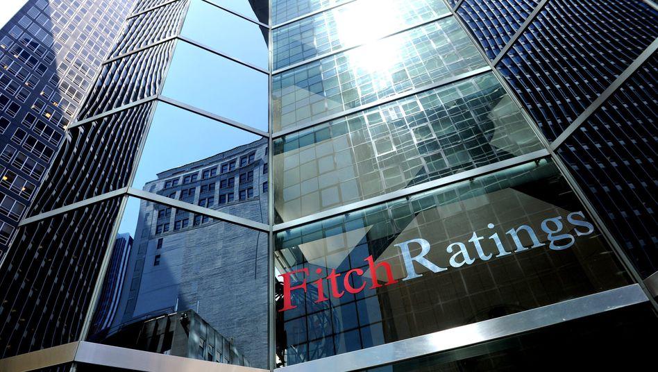 """Fitch-Zentrale in New York: """"Der Rückschlag im Kampf gegen die Schuldenkrise in den USA könnte möglicherweise ein negatives Rating zur Folge haben"""""""