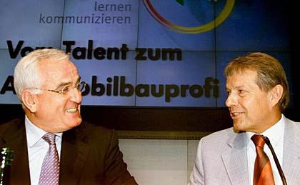 """Peter Hartz, Nutznießer Klaus Volkert (rechts): """"Volkert großzügig und wertschätzend behandeln"""""""
